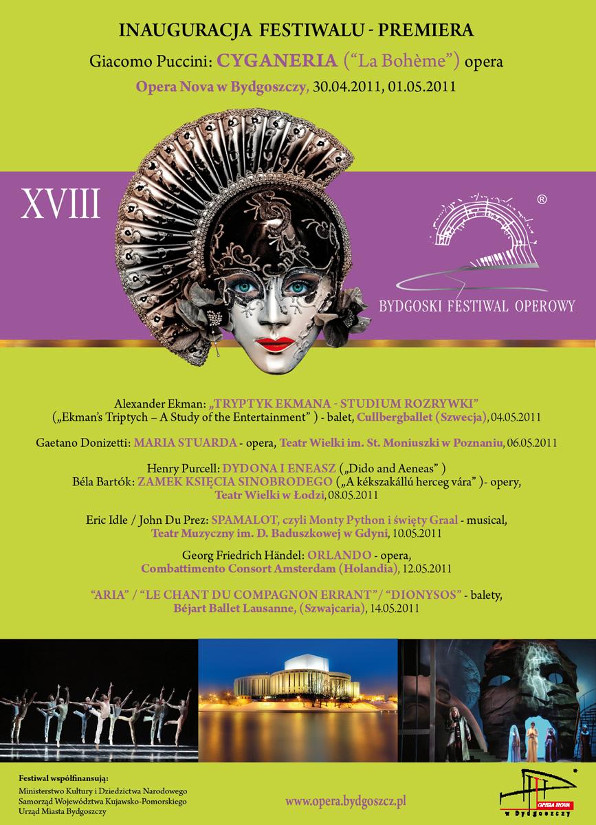 XVIII Bydgoski Festiwal Operowy, afisz