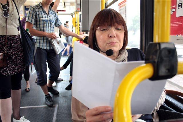 Krystyna Czubówna, tramwaj lini 12, fot. Sabin Kluszczyński