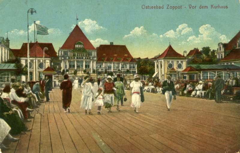 Na molo w Sopocie, 1926, zbiory prywatne