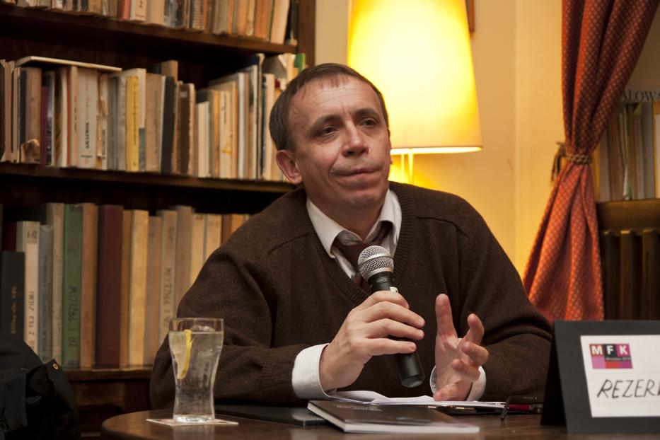 Prof. Piotr Śliwiński, fot. Krzysztof Éysek, zdjęcie wykonane w czasie Międzynarodowego Festiwalu Kryminału 2010, udostępnione przez Biuro Festiwalowe