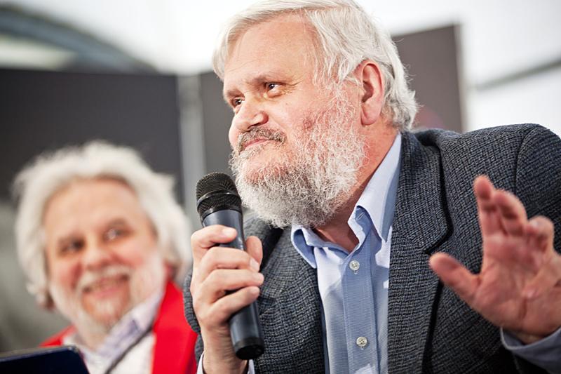 Tkanie z Andrzejem Franaszkiem, fot. Tomasz Wiech