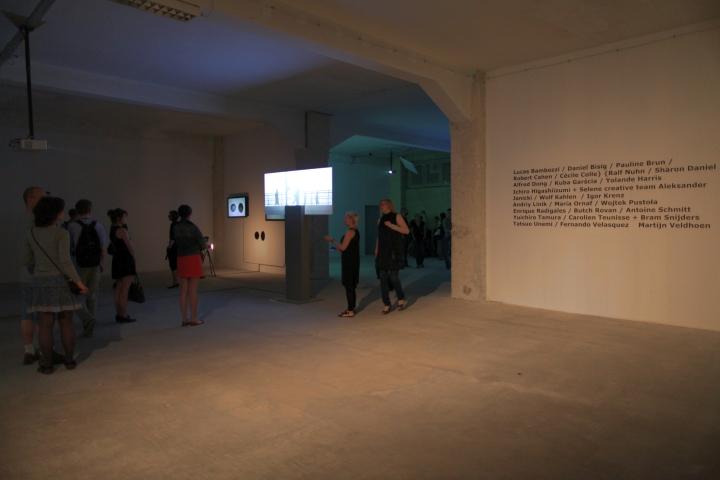 WRO 2011 Biennale, exhibition entrance view, photo by Katarzyna Pałetko (12)