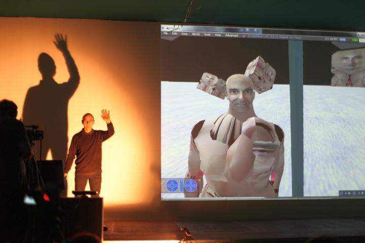 WRO 2011 Biennale, STELARC, Phantom Flesh-Circulating Body, photo by Katarzyna Pałetko (8)