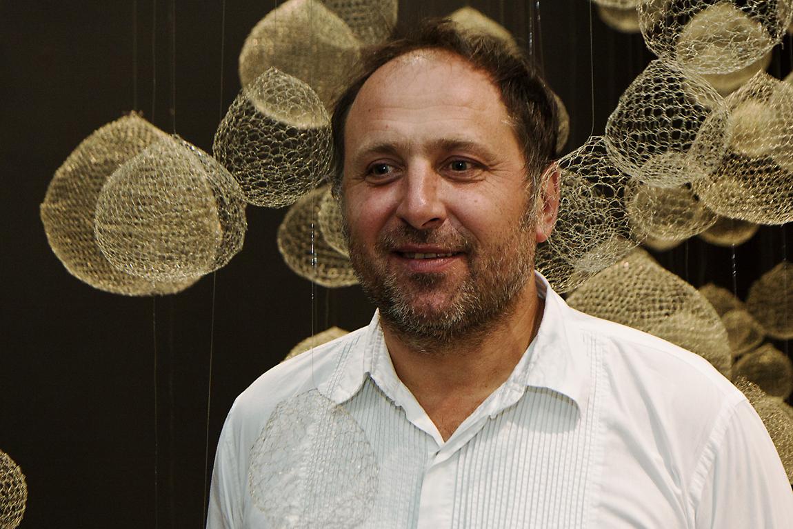 Xawery Wolski podczas otwarcia wystawy Portret, Galeria Bielska BWA, 12 maja 2011, fot. K. Morcinek, materiały udostępnione przez organizatora