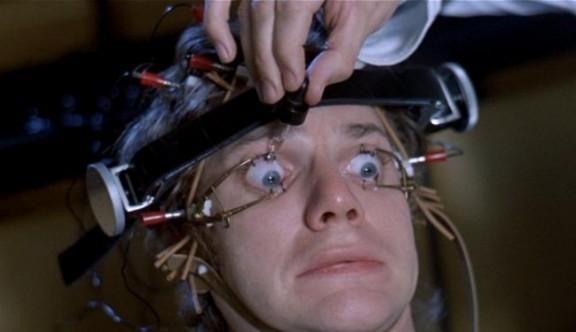 """Stanley Kubrick """"Mechaniczna pomarańcza"""", 1971, kadr z filmu, materiał udostępniony przez organizatora"""