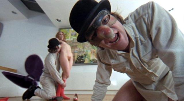 """Reż. Stanley Kubrick """"Mechaniczna pomarańcza"""", 1971, kadr z filmu, materiał udostępniony przez organizatora"""