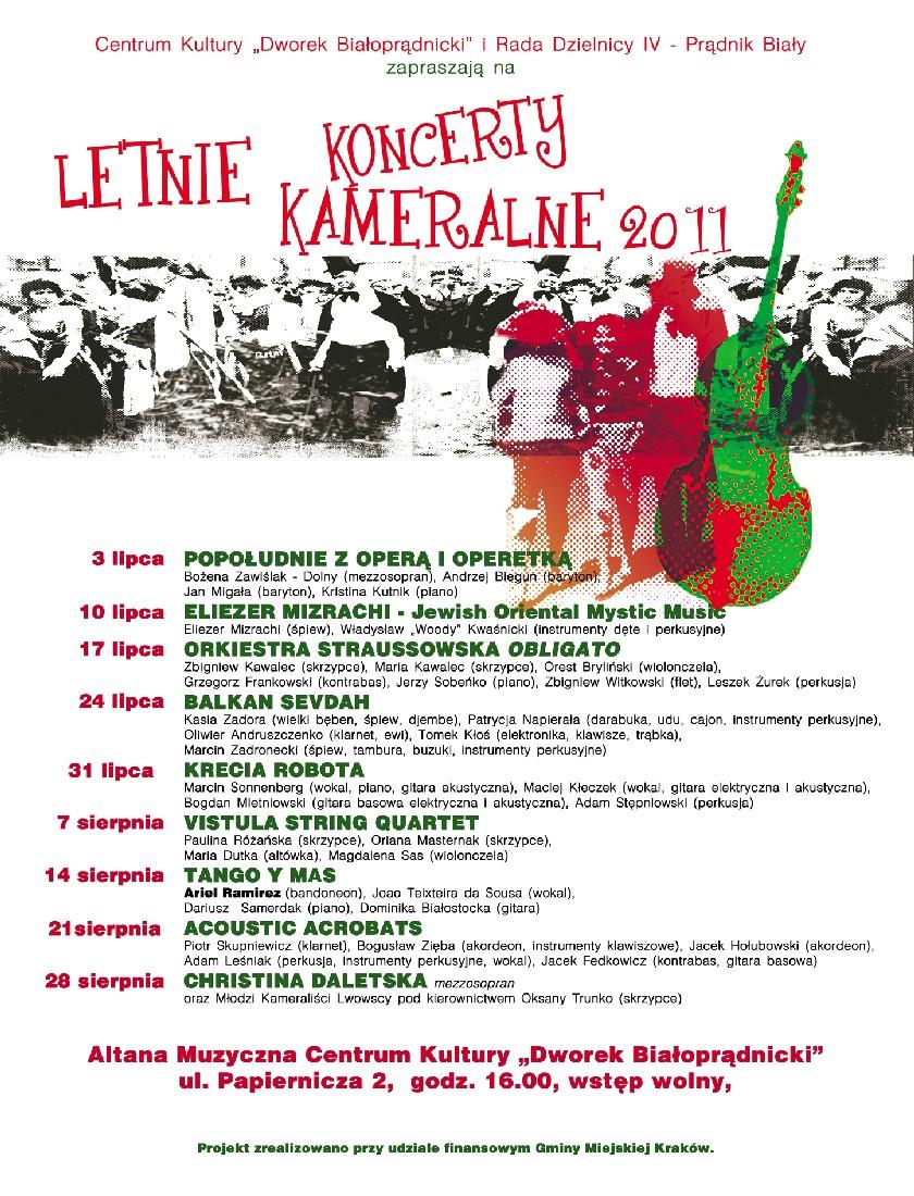 Letnie Koncerty Kameralne - plakat, materiał udostępniony przez organizatora