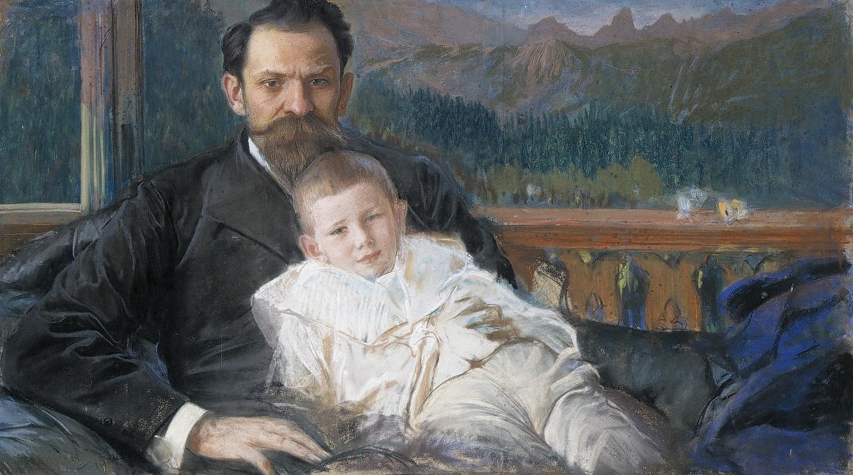 Leon Wyczółkowski - Żeromski z synem. Materiały udostępnione przez Muzeum Narodowe w Poznaniu