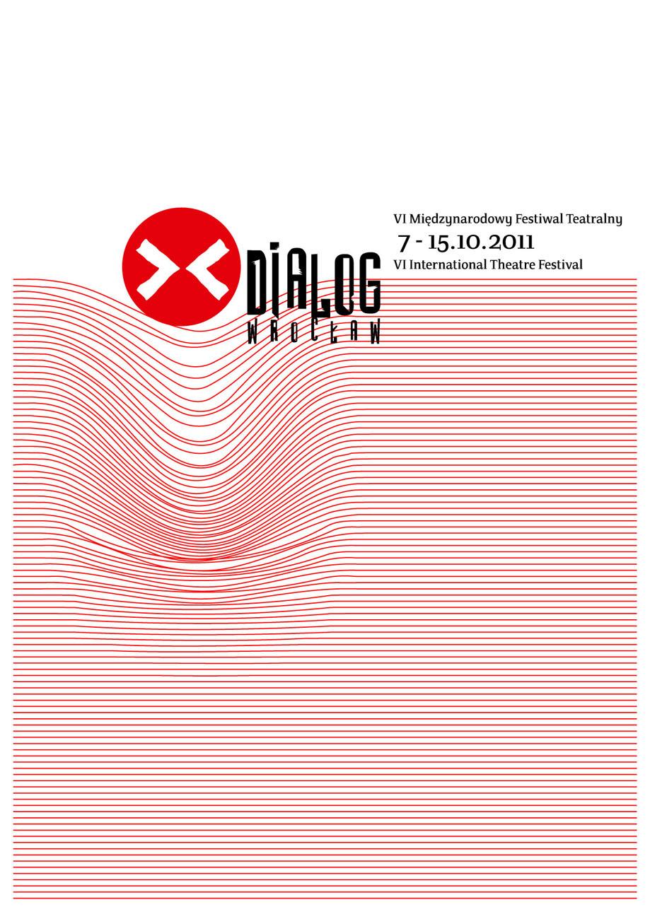 Plakat festiwalu Dialog - Wrocław (plakat pochodzi z materiałów udostępnionych przez organizatora)