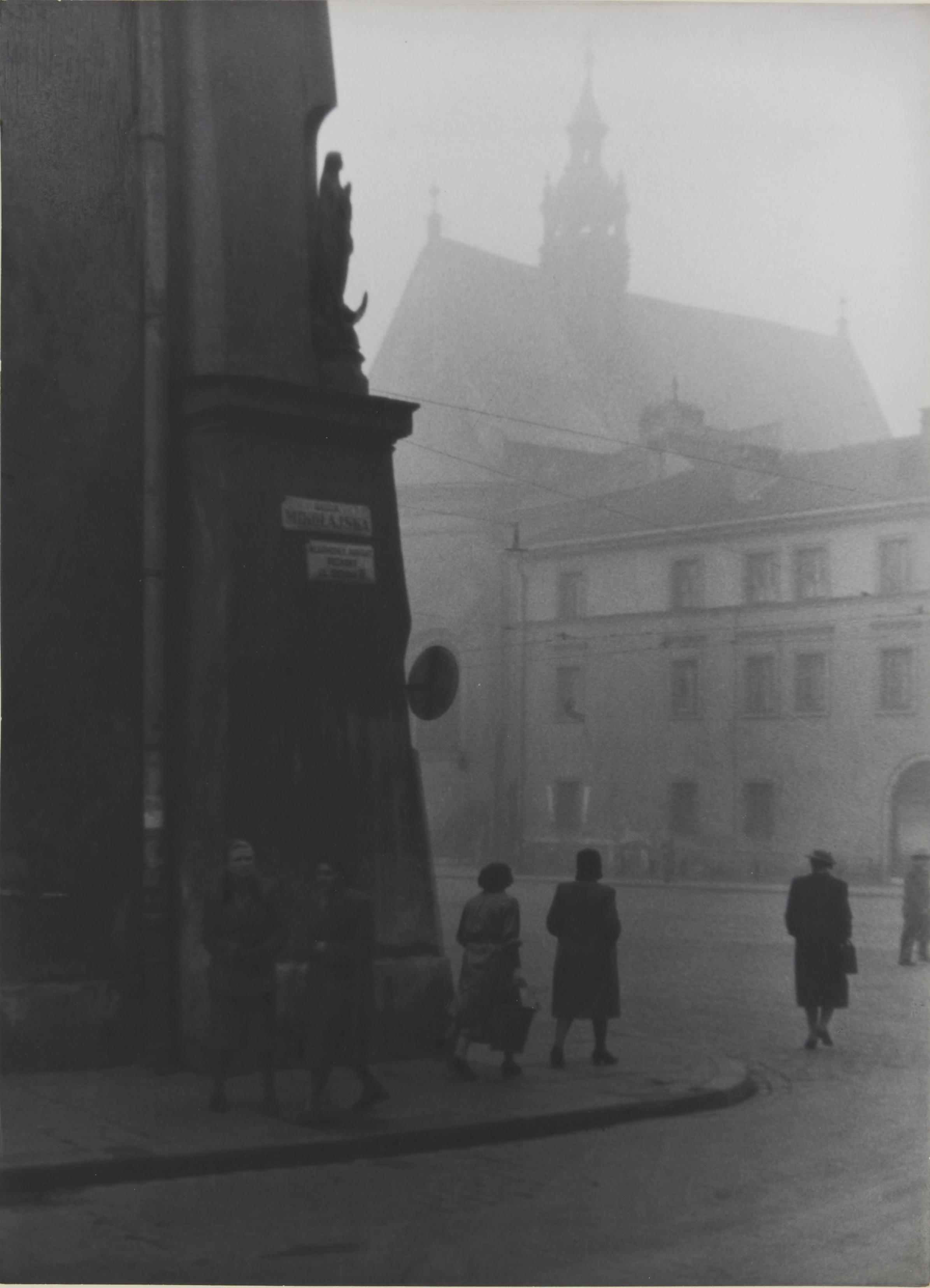 """Ryszard Wiktor Schramm, """"Poranek w Krakowie"""" - wystawa """"Cień socrealizmu"""" (zdjęcie udostępnione przez organizatora)"""