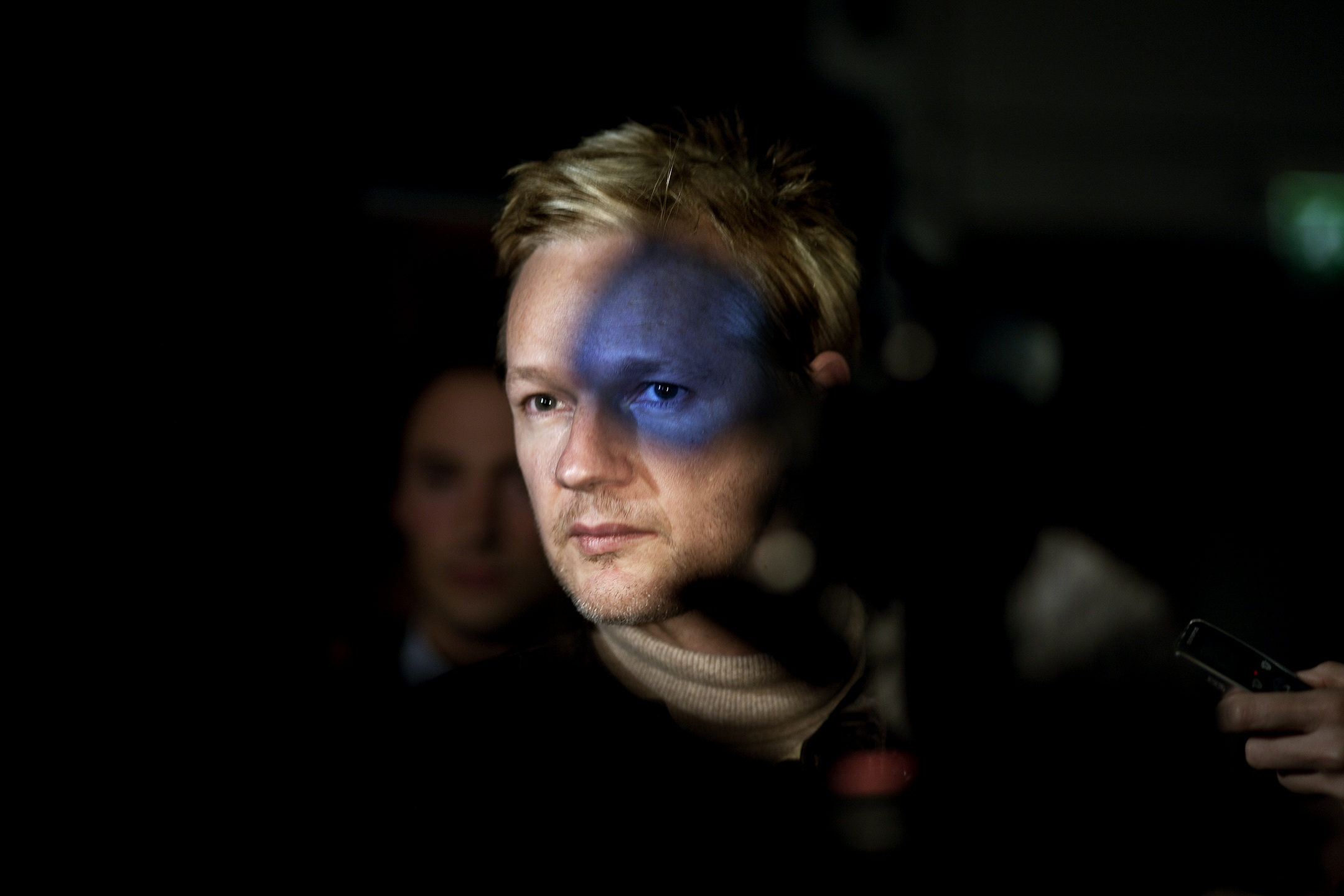 2. nagroda w kategorii Ludzie - zdjęcie pojedyncze: Seamus Murphy, Irlandia, VII Photo Agency, Julian Assange, założyciel of WikiLeaks, Londyn, 30 września
