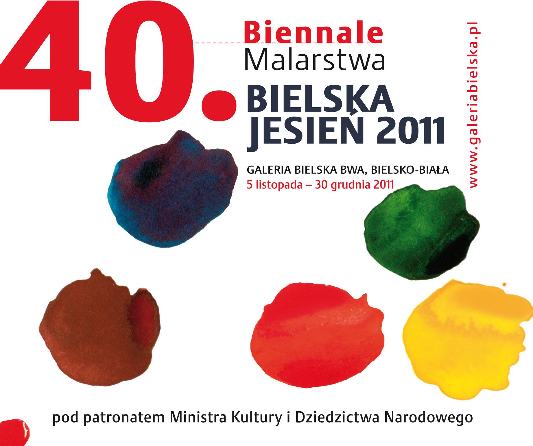 40. Biennale Bielska Jesień - plakat (źródło: materiały prasowe organizatora)