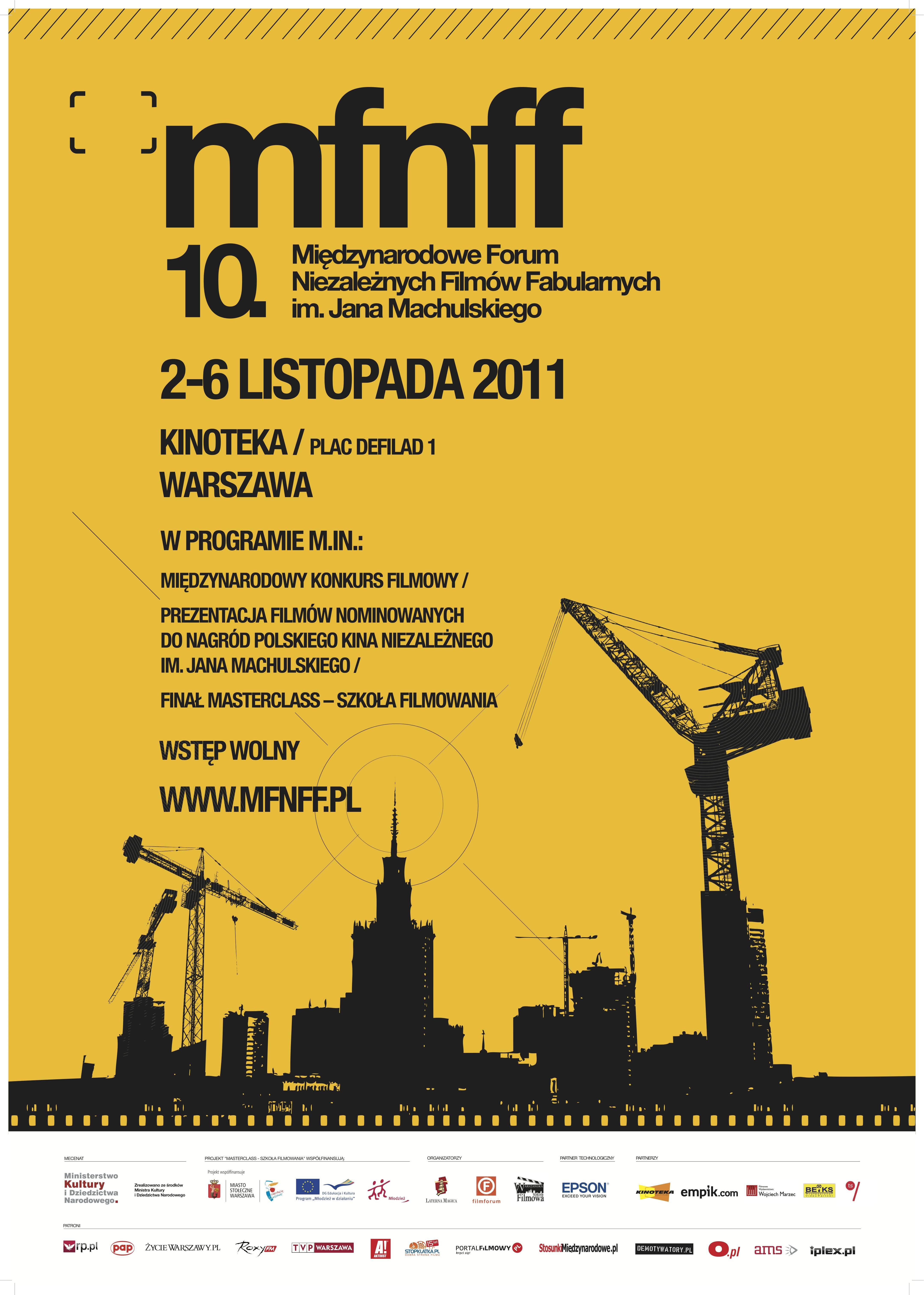 10. edycja Międzynarodowego Forum Niezależnych Filmów Fabularnych - plakat (źródło: materiały prasowe organizatora)