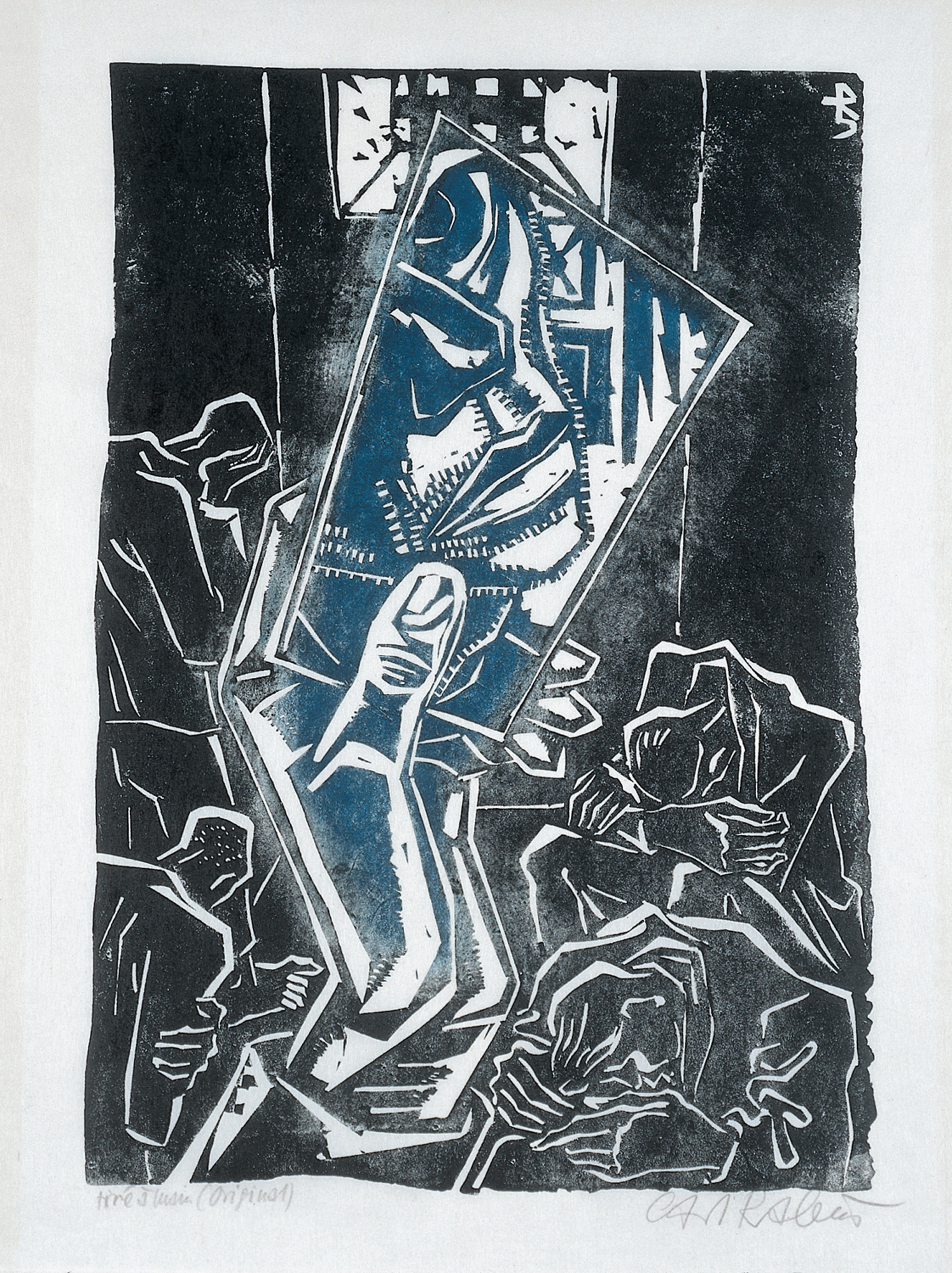 Carl Rabus, Geole (więzienie), linoryt, 1945 (zdjęcie pochodzi z materiałów prasowych)