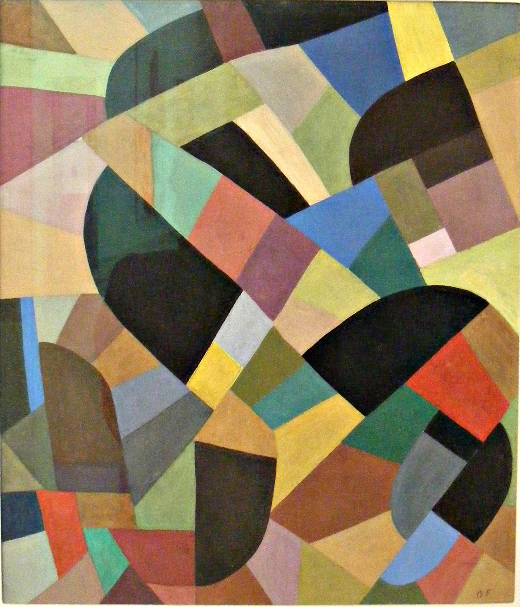 Otto Freundlich, Kompozycja Abstrakcyjna, 1938-1939, olej na płótnie (zdjęcie pochodzi z materiałów prasowych)