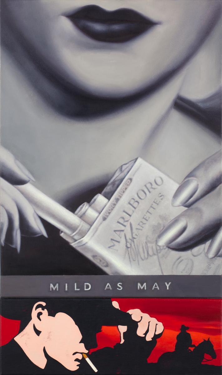 Małgorzata Rozenau, Mild as May, 2010, akryl, olej, płótno, 100 x 60 cm, fot. Jacek Rojkowski