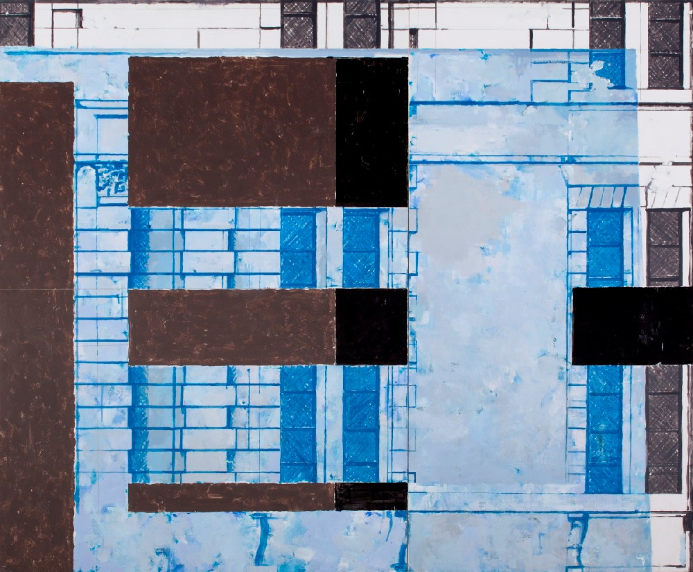 Jarosław Sankowski, Bez tytułu, 2010, akryl, karton, styropian, 140 x 170 cm, fot. Jacek Rojkowski