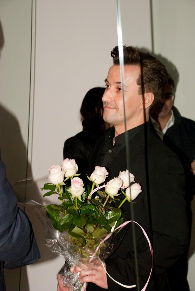 Wernisaż wystawy Piotr Ostrowski, Ślady/Traces 2011 w Muzeum Witrażu, fot. Zofia Waligóra