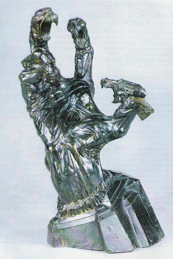 Stanisław Szukalski, Walka ilości z jakością, 1917, brąz (dzięki uprzejmości CSW Znaki Czasu)