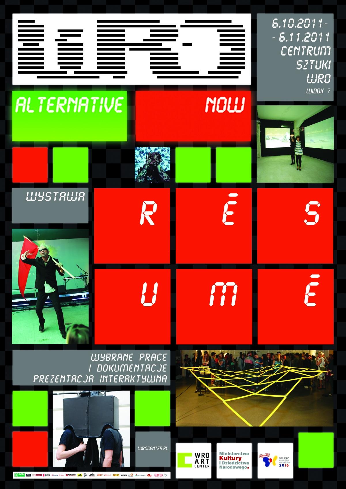WRO Alternative Now Résumé - plakat (źródło: materiały prasowe organizatora)