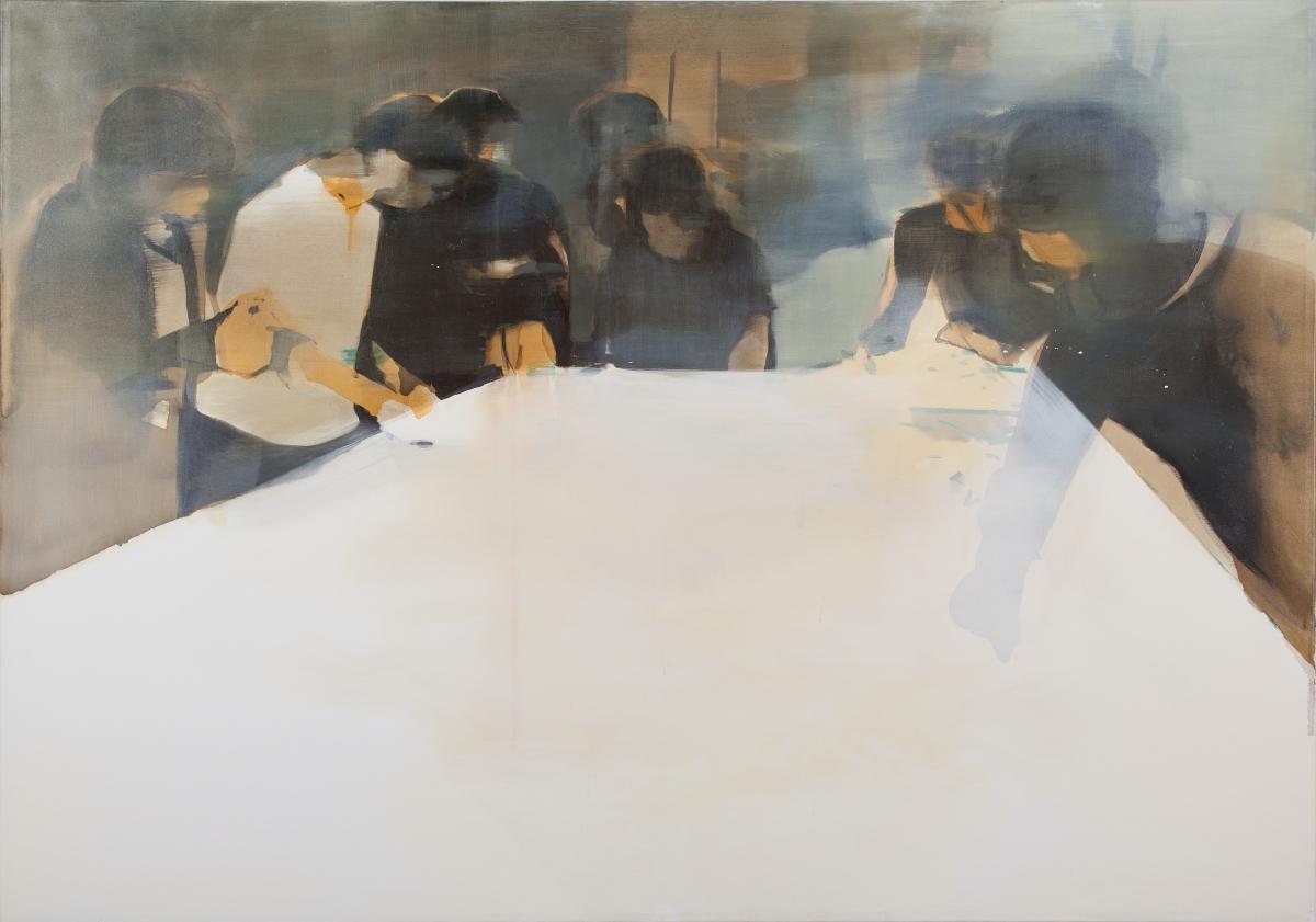 Bartłomiej Zygmunt-Siegmund, Plany, 2008, akryl, olej, płótno, 135 x 190 cm, fot. Jacek Rojkowski