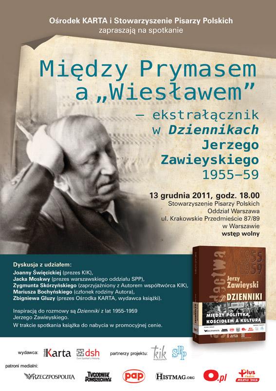 Jerzy Zawieyski Dzienniki. Tom 1. Wybór z lat 1955–1959 - zaproszenie (źródło: materiał prasowy Karty)