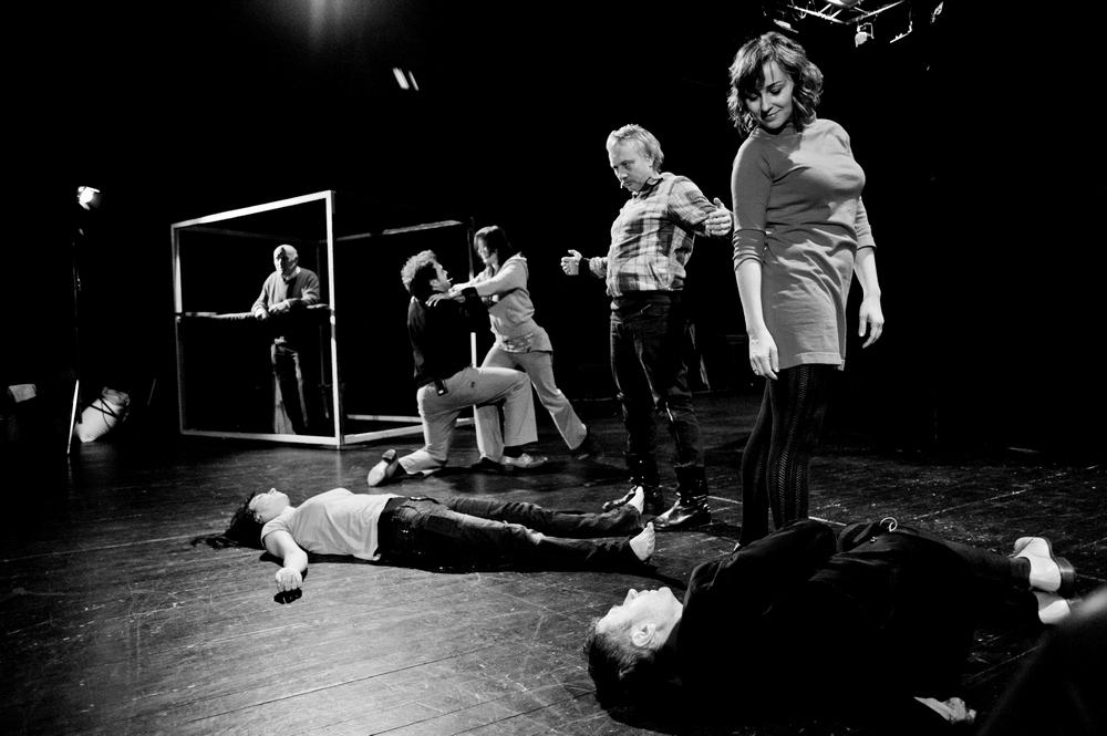 """Bezkostiumowa próba spektaklu """"Dawno temu w Odessie"""", fot. Piotr Hawałej (źródło: materiały prasowe organizatora)"""