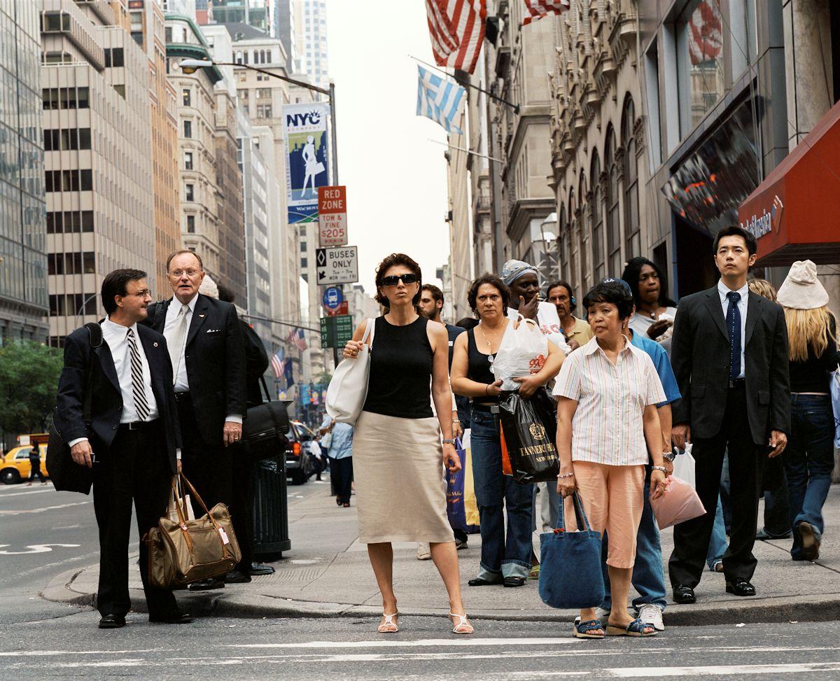 """Florian Böhm, """"Wait for Walk - 48th St. 5th Ave"""", 2005 (źródło: materiał prasowy)"""
