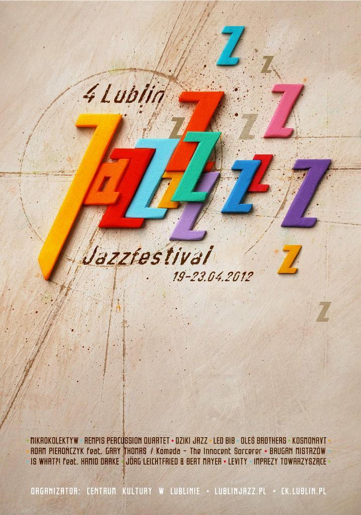 4. Lublin Jazz Festiwal, plakat (źródło: materiały prasowe)