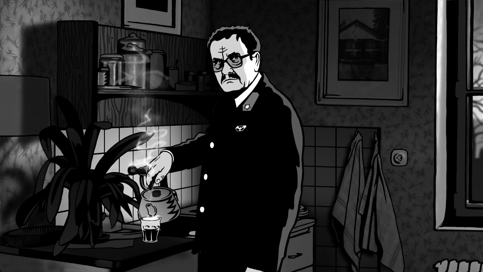 """Kadr z filmu """"Alois Nebel"""", (źródło: materiały prasowe)"""