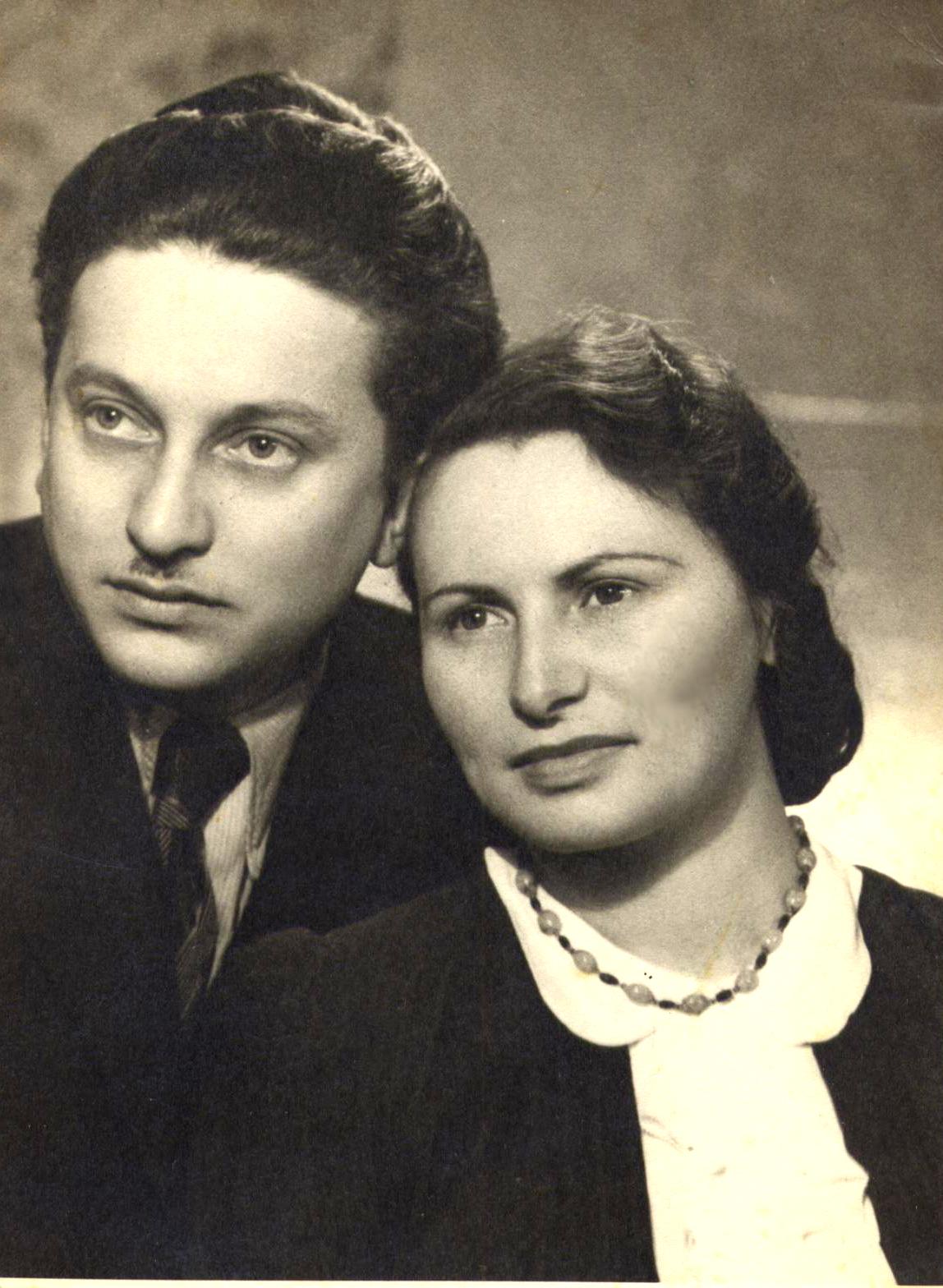 Zdjęcie ślubne - Józef Bau z małżonką (źródło: materiały prasowe)