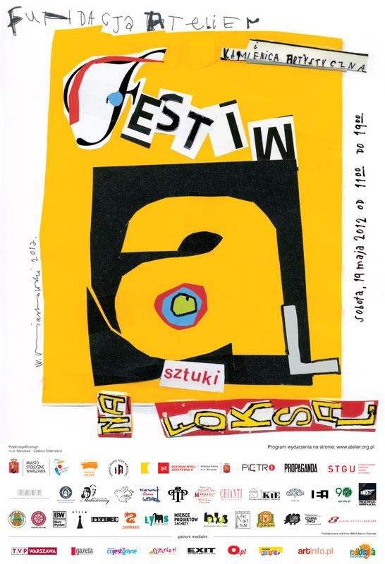 Plakat Festiwalu Sztuki na Foksal (źródło: materiały prasowe)