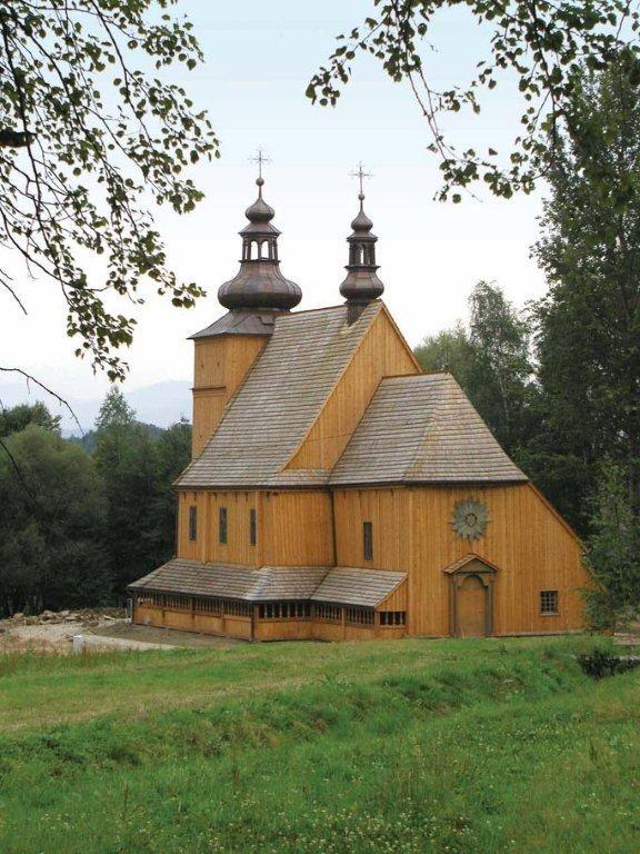 Kościół z Łososiny Dolnej, Sądecki Park Etnograficzny, fot. M. Klag (źródło: materiały prasowe)