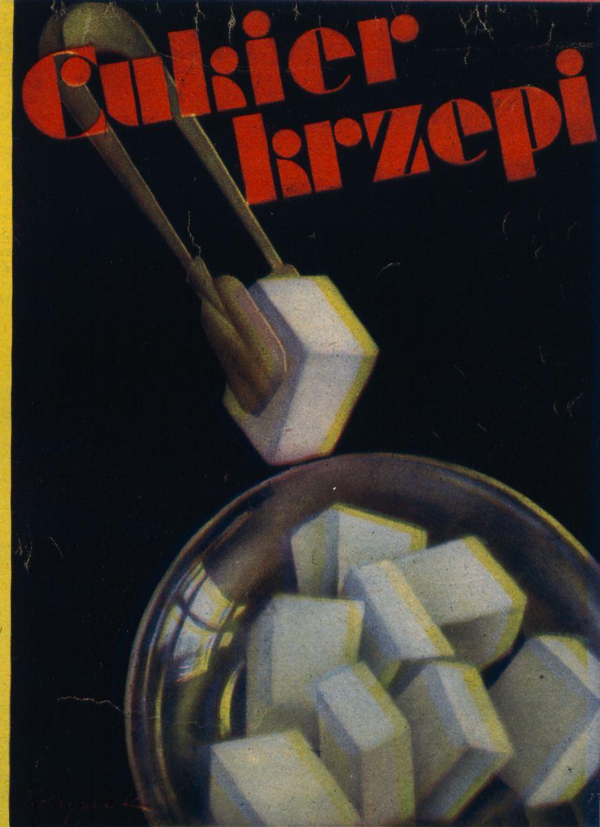 """Tadeusz Kryszak, """"Cukier krzepi"""", 1931, repr. za """"Światowid"""" Biblioteka Narodowa (źródło: materiały prasowe)"""