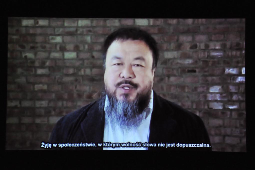 Ai Weiwei fot. Weronika Szmuc. (źródło: materiały prasowe organizatora)