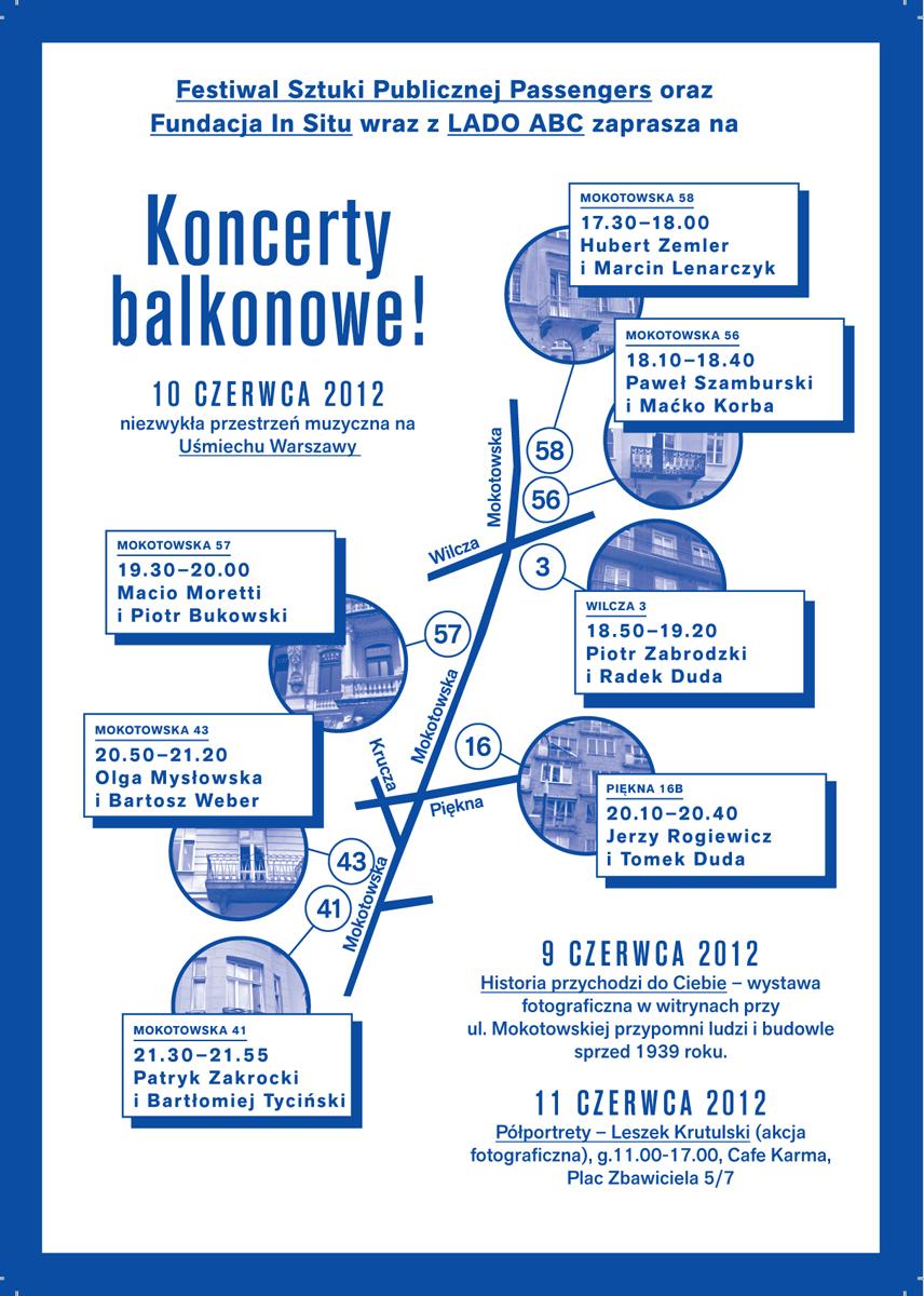 Koncerty balkonowe!, plakat (źródło: materiały prasowe)