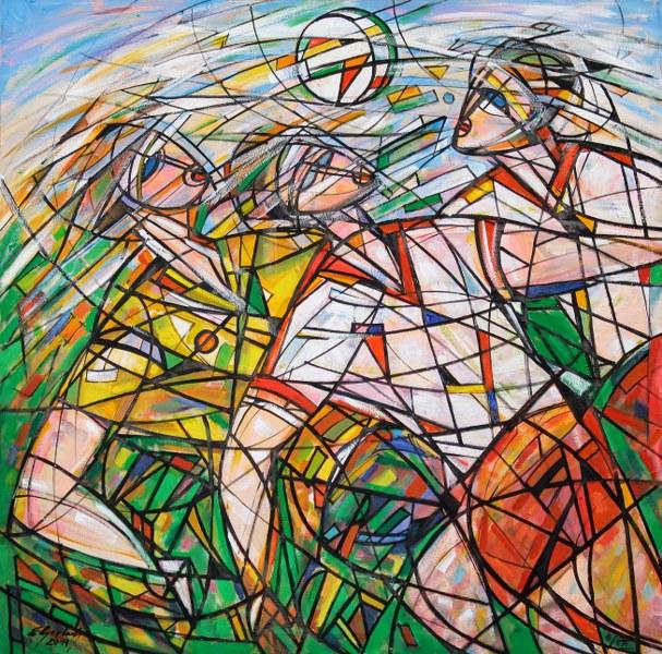 """Eugeniusz Gerlach """"Sport w Sztuce - Inspiracje Olimpijskie"""" (źródło: materiały prasowe organizatora)"""