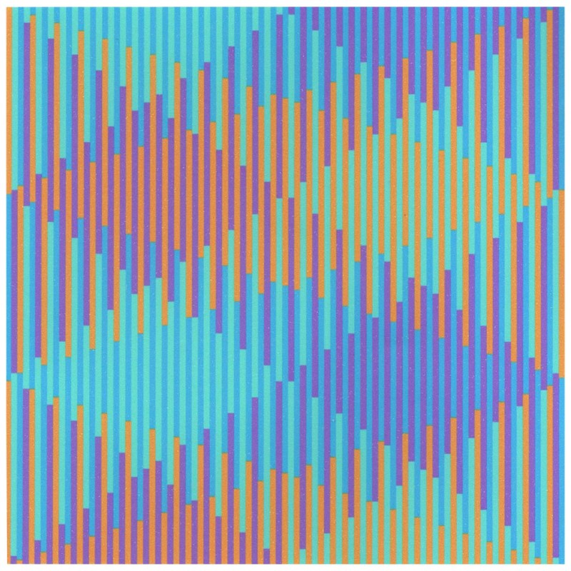 """Horst Barting, """"2140 disjoints in blue and violet 140 lines in orange and green"""" (źródło: materiały prasowe)"""