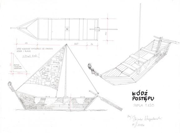 """Zbigniew Warpechowski, """"Łódź Postępu"""", szkic, 2012 (źródło: materiały prasowe)"""