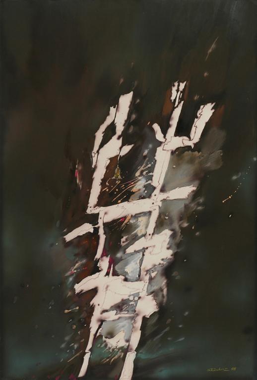 """Witold Skulicz, """"Droga do nikąd"""", technika mieszana, 1988, własność rodziny artysty (źródło: materiały prasowe)"""