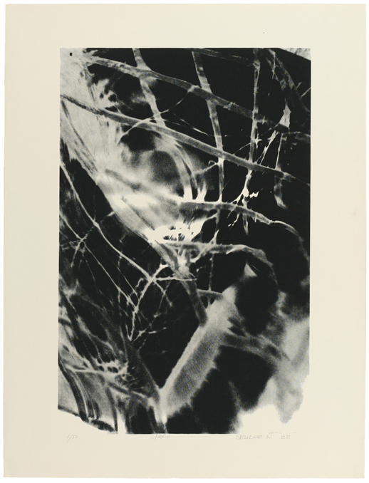 """Witold Skulicz, """"Noc"""" , serigrafia 1983, własność rodziny artysty (źródło: materiały prasowe)"""