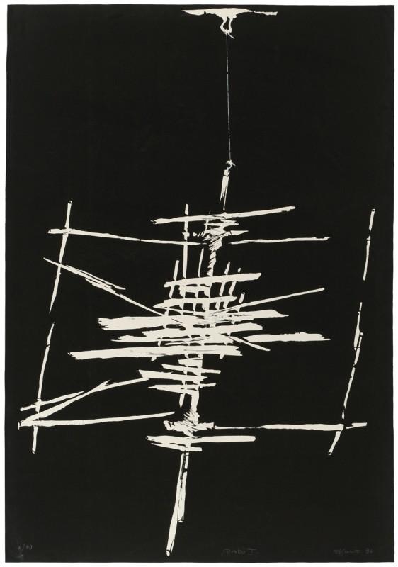 """Witold Skulicz, """"Próba I"""", serigrafia, 1986, własność rodziny artysty (źródło: materiały prasowe)"""