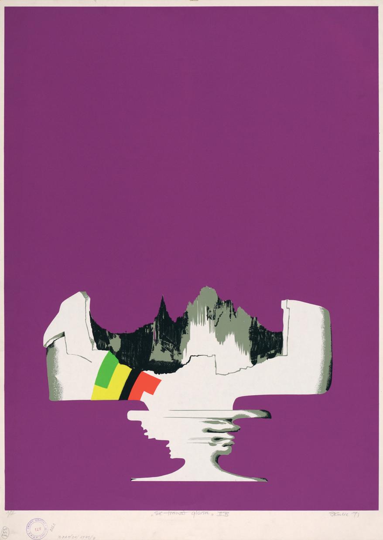 """Witold Skulicz, """"Sic transit gloria IIB"""", serigrafia,1971, własność Związku Polskich Artystów Plastyków Okręgu Krakowskiego (źródło: materiały prasowe)"""