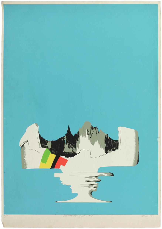 """Witold Skulicz, """"Sic transit gloria IIC"""", serigrafia, 1971, własność rodziny artysty (źródło: materiały prasowe)"""