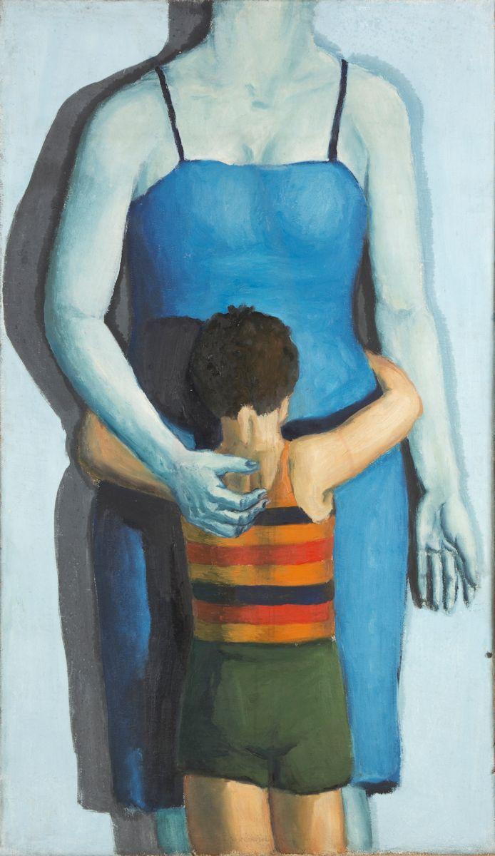 """Andrzej Wróblewski, """"Dziecko z zabitą matką"""", (""""Syn i zabita matka""""), 1949, olej, płótno, Muzeum Narodowe w Krakowie (źródło: materiały prasowe organizatora)"""