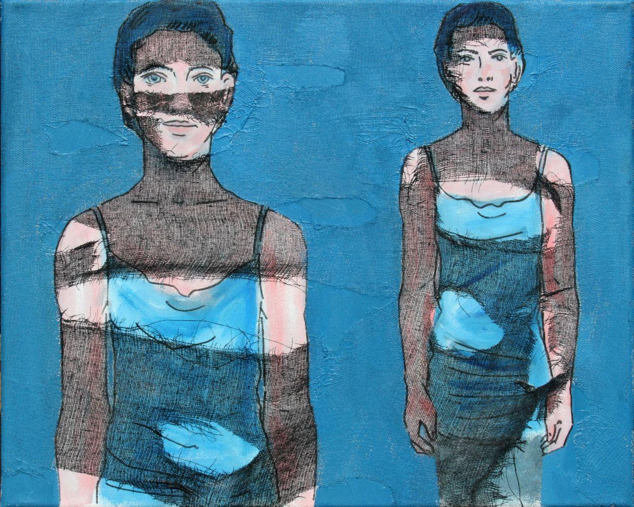 Rosika Janko-Glage Chwila - Augenblick, 2012, płótno, akryl, gaza (źródło: materiały prasowe)