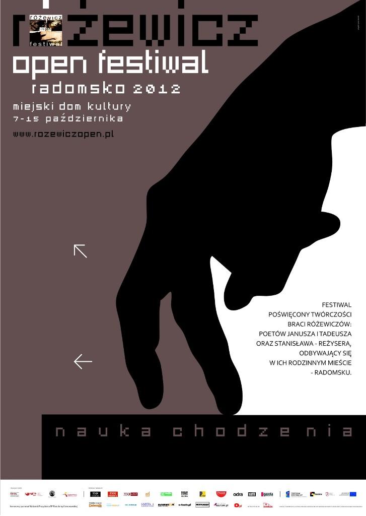 Różewicz Open Festiwal 2012, plakat (źródło: materiały prasowe organizatora)