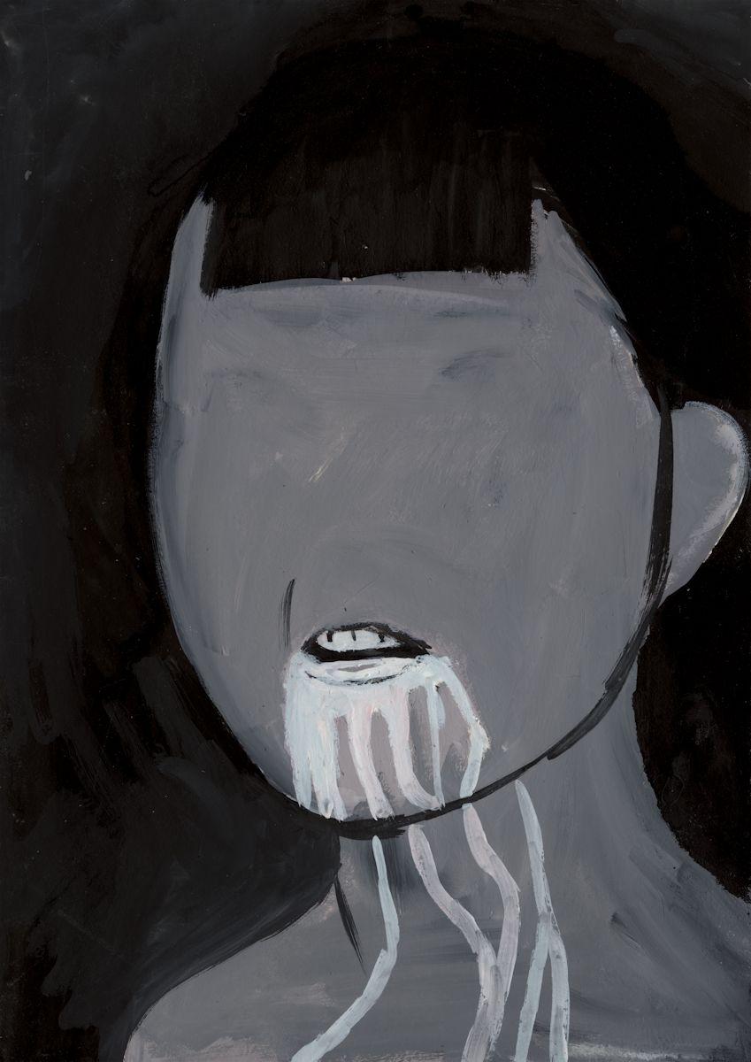 """Aleksandra Waliszewska, """"Mleko"""", 2009, technika mieszana na kartonie, 35 x 25 cm, dzięki uprzejmości artystki i Galerii Leto (źródło: materiały prasowe organizatora)"""