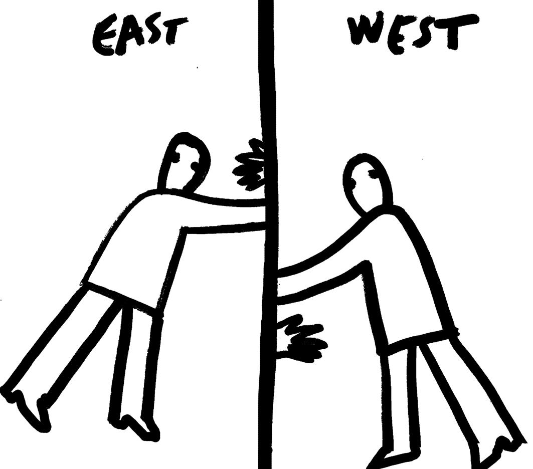 """Dan Perjovschi, """"East West"""", 2006 (źródło: materiał prasowy)"""