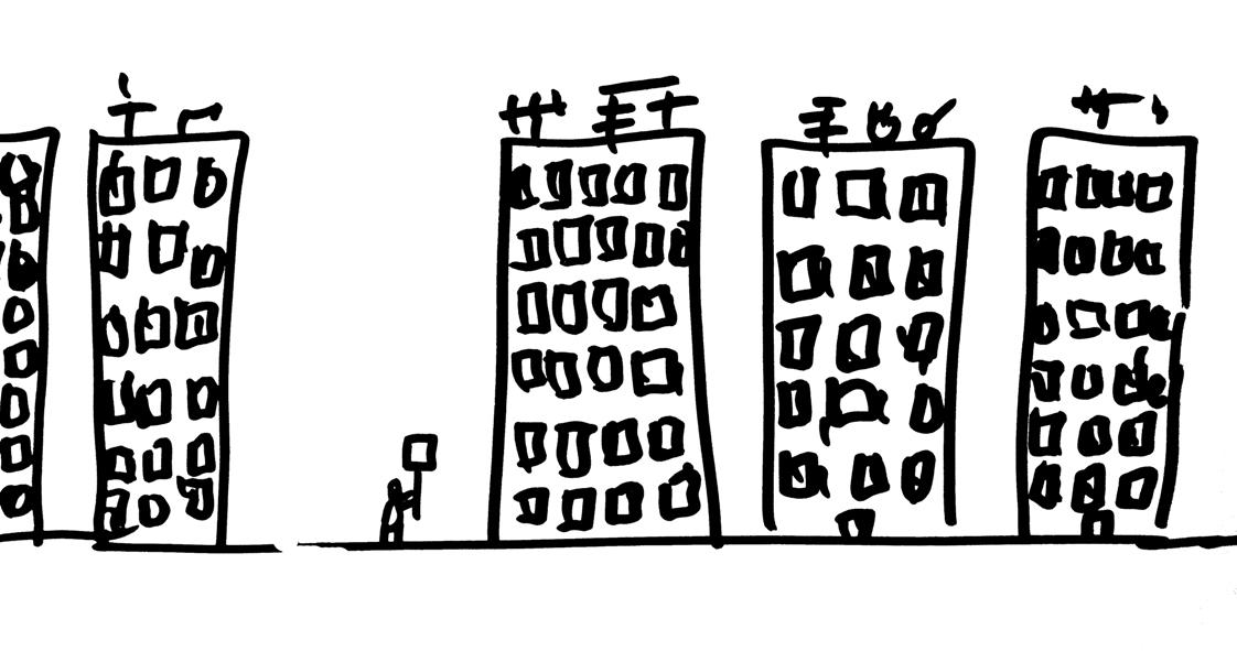 "Dan Perjovschi, ""Protester alone"", 2012 (źródło: materiał prasowy)"